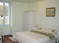 Master bedroom in Les Vignes, self-catering gite, burgundy, france